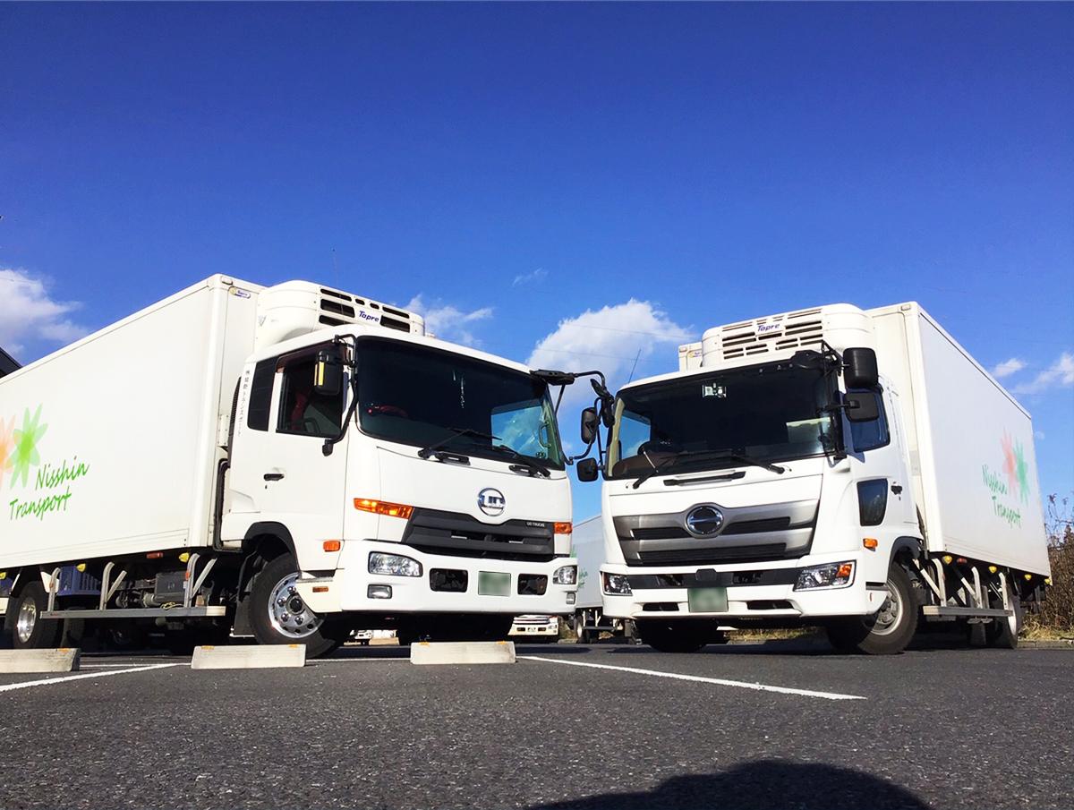 食品のセンター間輸送をメインに行っており、積み込みから商品の仕分けまで高品質なサービスをご提供